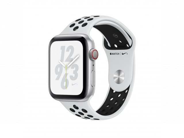 For sale - Refurbished AppleWatch Nike+ Series4 GPS+Cellular, 44mm Silver Aluminium Case with Pure Platinum/Black Nike Sport Band