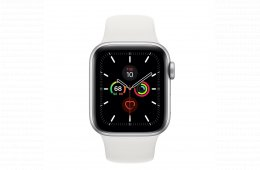 For sale - Refurbished AppleWatch Series5 GPS, 40mm Silver Aluminium Case with White Sport Band