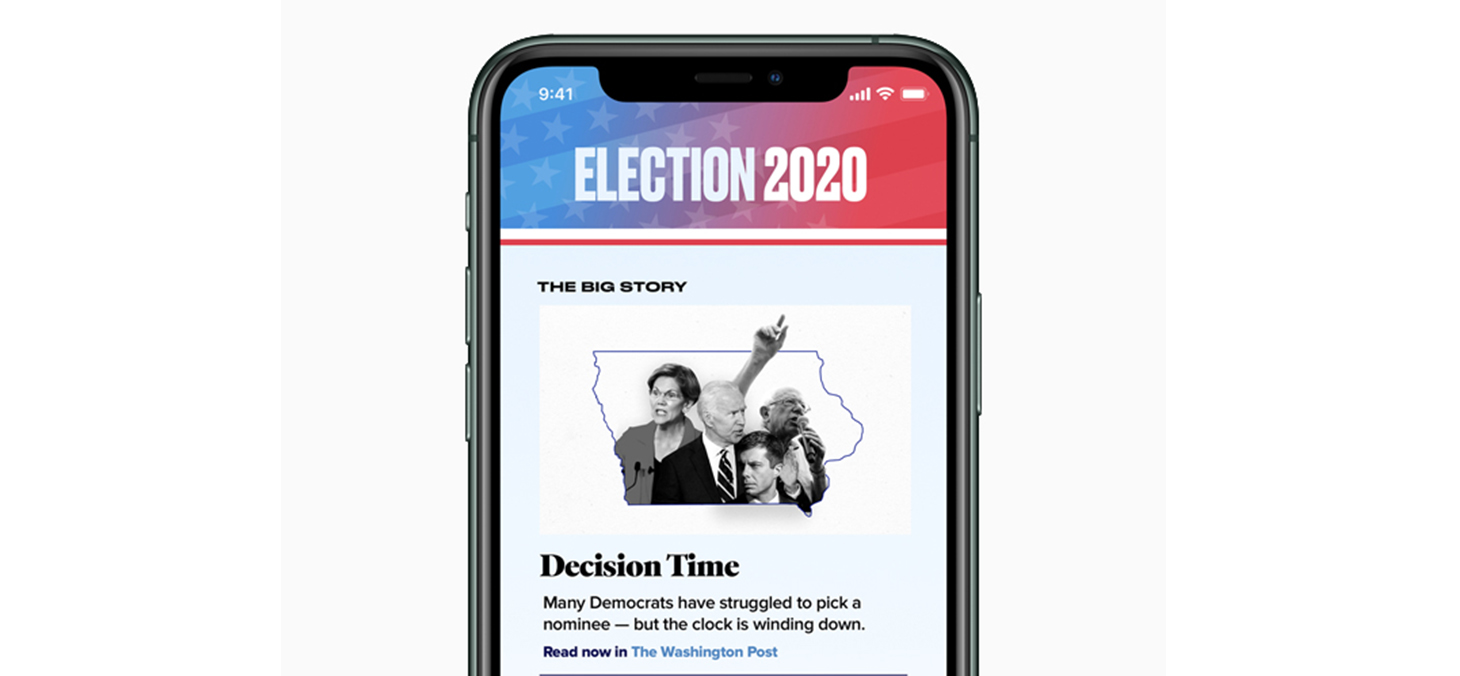 Apple News Introduces Special Coverage of 2020 U.S. Presidential Election